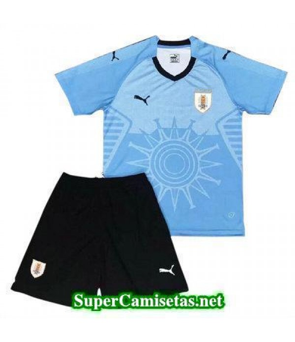 Primera Equipacion Camiseta Uruguay Ninos Copa Mundial 2018