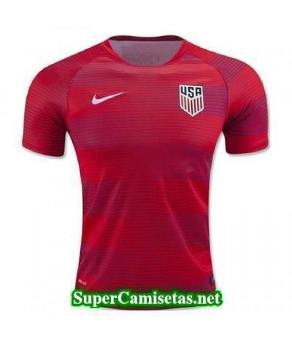 camiseta pre-partido USA rojo 2016 2017