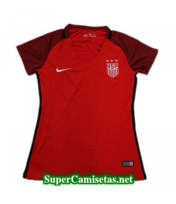 Segunda Equipacion Camiseta USA Mujer 2017/18