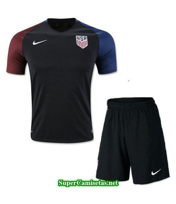 Segunda Equipacion Camiseta USA Ninos Copa America 2016