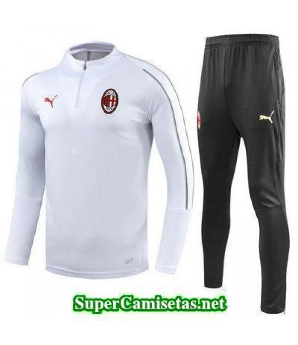 Camiseta entrenamiento AC Milan ML Blanco 2018 201...