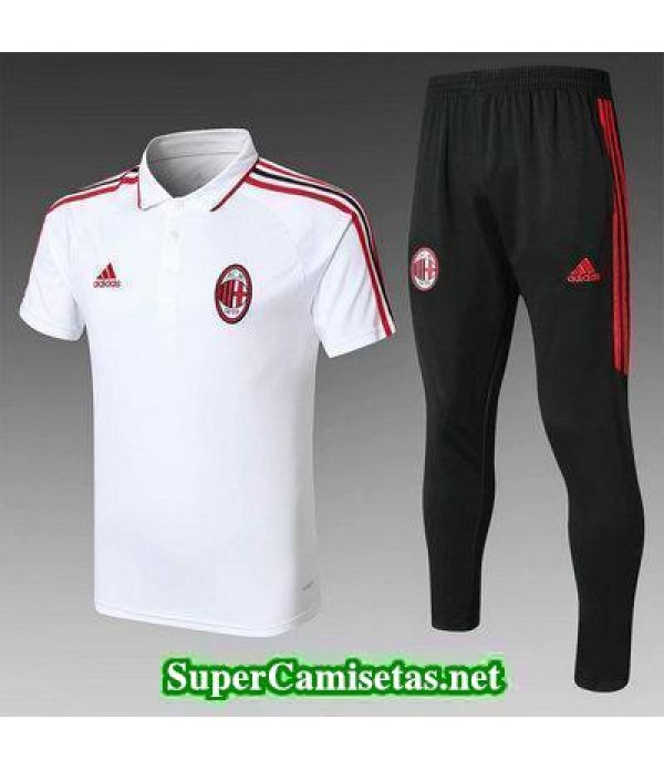 Camiseta polo AC Milan Blanco 2018 2019
