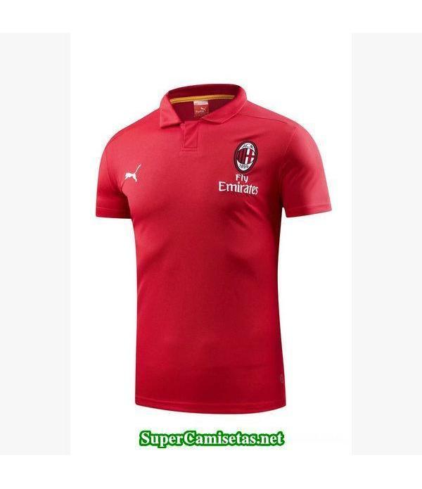 Camiseta polo AC Milan rojo 2018 2019