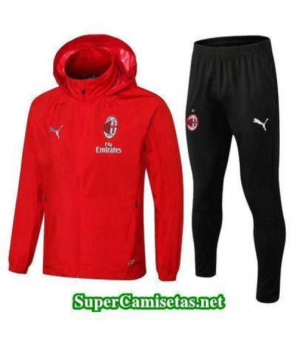 Chaquetas AC Milan Rojo 2018 2019 baratas