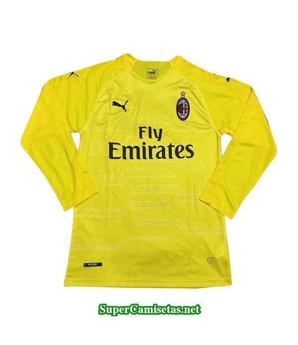 Portero Equipacion Camiseta AC Milan Manga Larga 2...