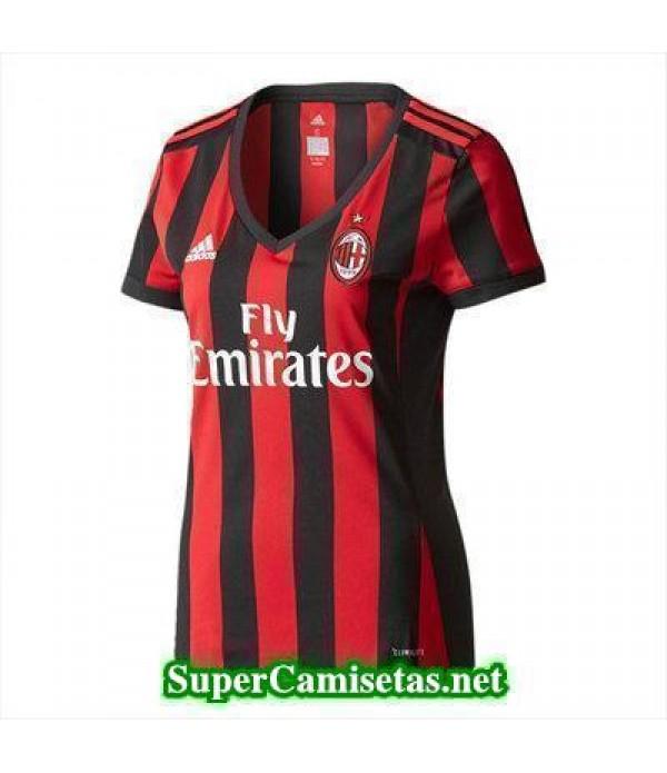 Primera Equipacion Camiseta AC Milan Mujer 2017/18