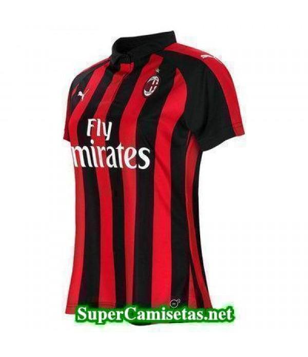 Primera Equipacion Camiseta AC Milan Mujer 2018/19