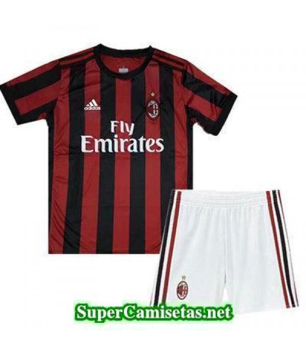 Primera Equipacion Camiseta AC Milan Ninos 2017/18