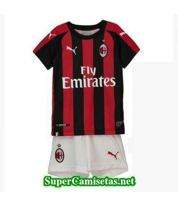 Primera Equipacion Camiseta AC Milan Ninos 2018/19