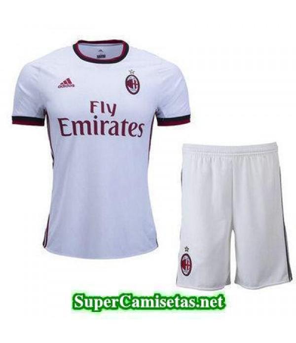 Segunda Equipacion Camiseta AC Milan Ninos 2017/18