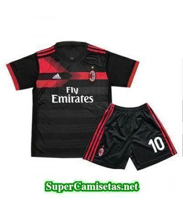Tercera Equipacion Camiseta AC Milan Ninos 2017/18