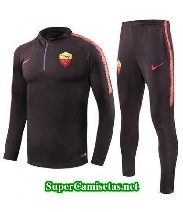 camiseta entrenamiento As Roma ML Purpura 2018 2019