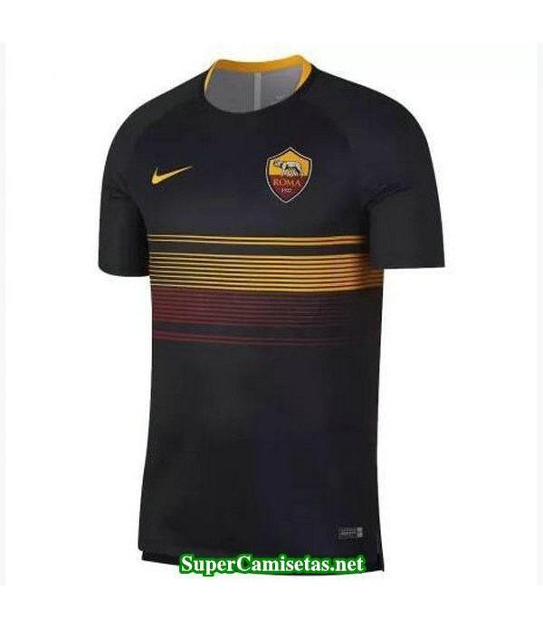 camiseta pre-partido As Roma Negro 2018 2019