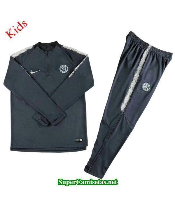 Camiseta entrenamiento Inter Milan Ninos ML Negro-...