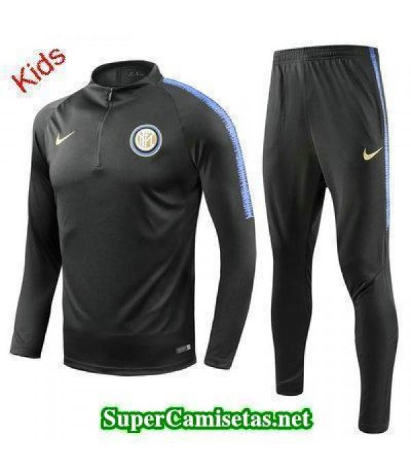 Camiseta entrenamiento Inter Milan Ninos ML Negro ...
