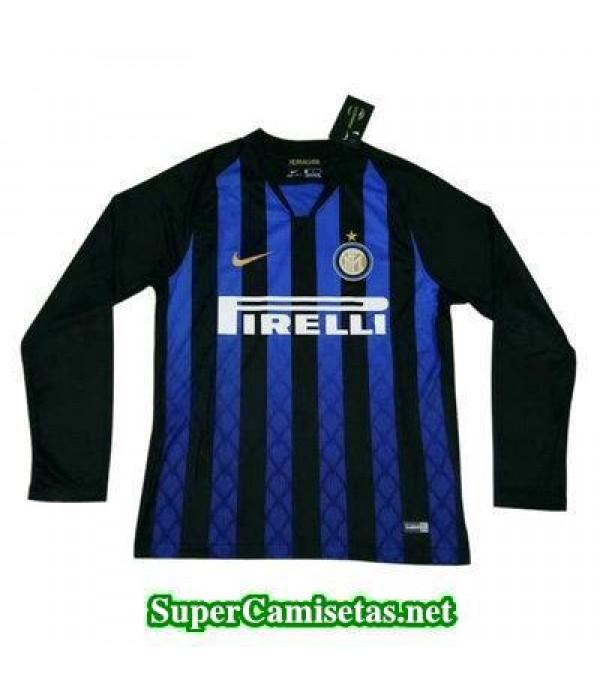Primera Equipacion Camiseta Inter Milan Manga Larga 2018/19