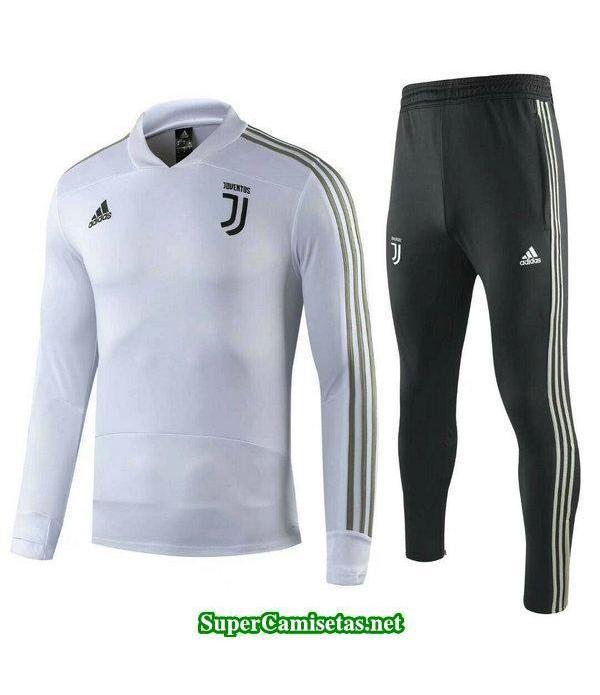 Camiseta entrenamiento Juventus ML Blanco 2018 201...
