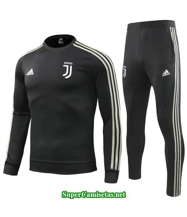 Camiseta entrenamiento Juventus ML Negro-01 2018 2019