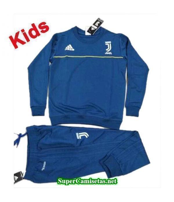 Camiseta entrenamiento Juventus Ninos ML Azul 2017 2018 ... 872a5aaa9e4fb