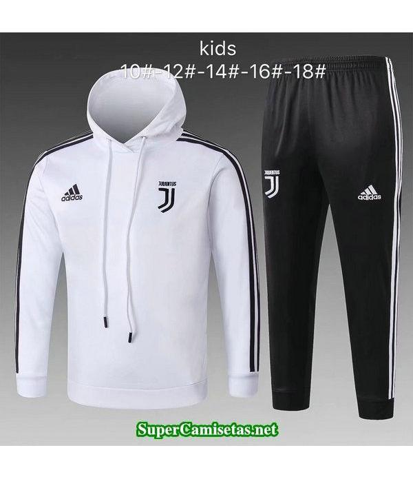 Camiseta entrenamiento Juventus Ninos ML Blanco-01 2018 2019