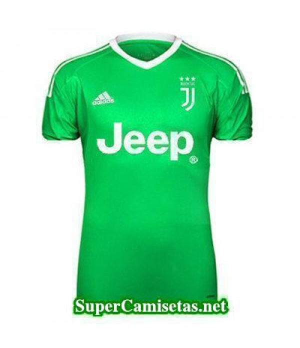 Portero Equipacion Camiseta Juventus verde-01 2017...