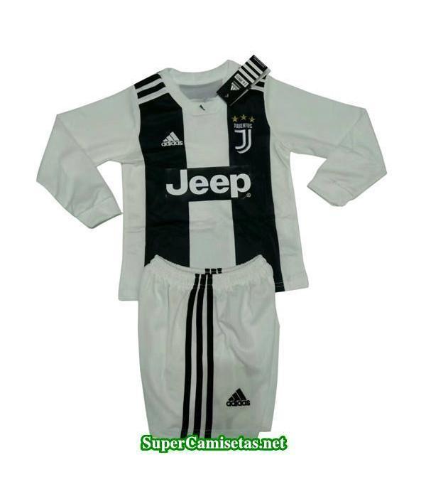 Primera Equipacion Camiseta Juventus ML Ninos 2018...