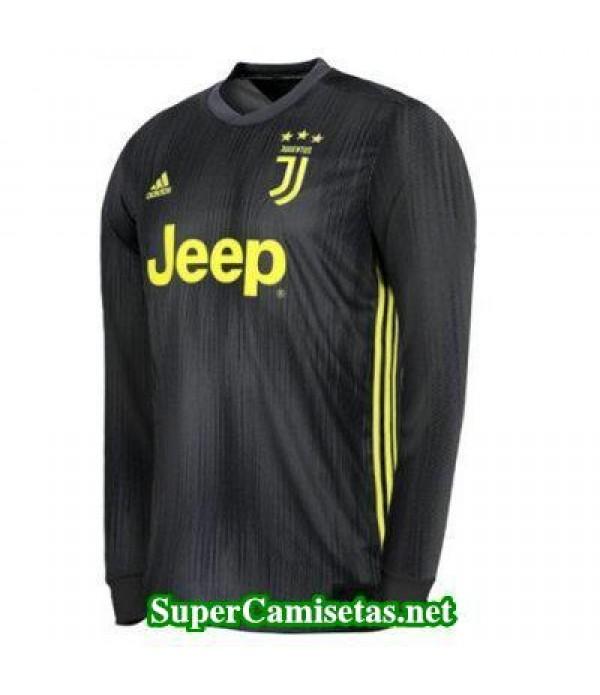Tercera Equipacion Camiseta Juventus Manga Larga 2018/19