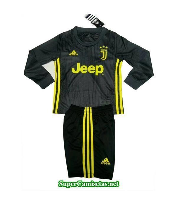 Tercera Equipacion Camiseta Juventus ML Ninos 2018/19