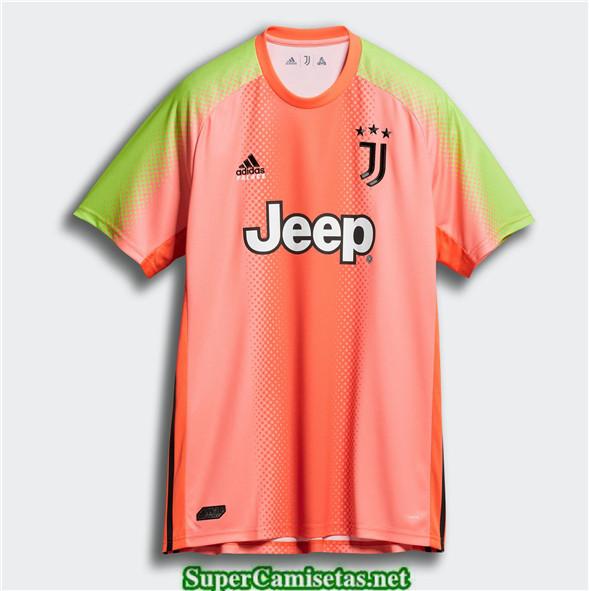 Tailandia Cuarto Equipacion Camiseta Juventus Palace Portero Naranja 2019 2020