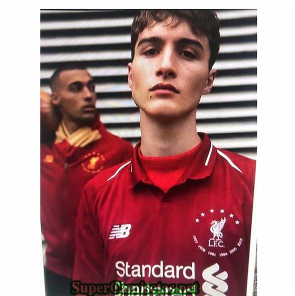 Tailandia Equipacion Camiseta Liverpool 6 Ligue Des Champions Edición Conmemorativa 2019/20