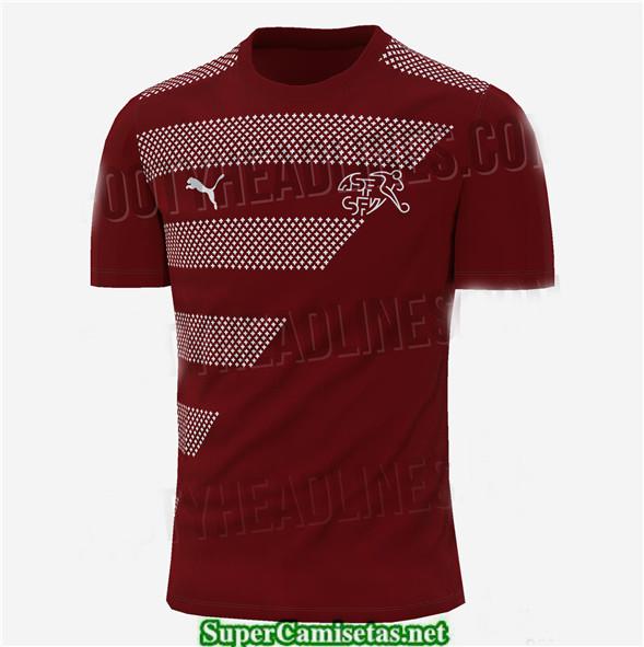 Tailandia Primera Equipacion Camiseta Suiza Uefa Euro 2020/2021